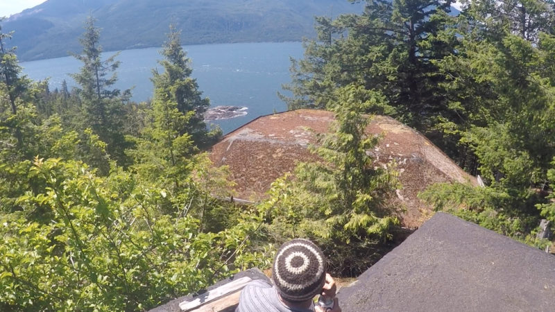 Although we were again shorebound by high winds for a few days on Yorke Island, the decommissioned World War II military outpost there was very interesting, and the view of windswept Johnstone Strait couldn't be beat.