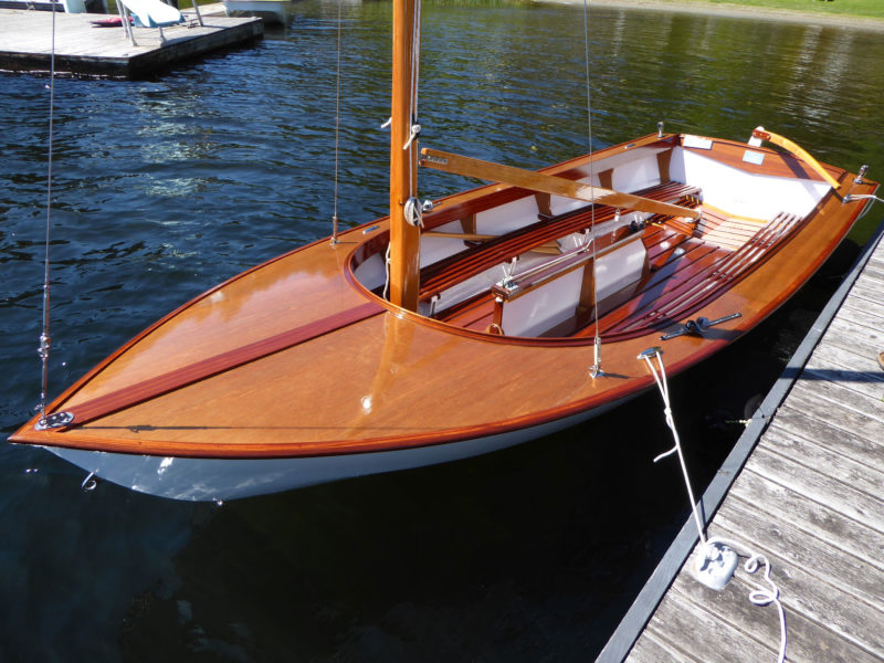 The ample seating and uncluttered cockpit the Glen-L 15 well suited for introducing family and guests to sailing.