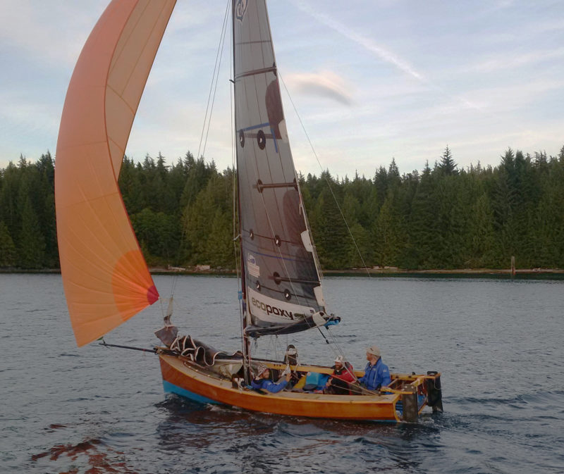 We had very few opportunities to put up our spinnaker. Our friend Colin Mason came out to meet us in a friends boat as we pulled through the final checkpoint at Bella Bella.