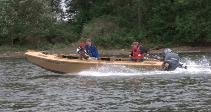 The Honker was designed to take a 60-hp outboard and make 30 knots.