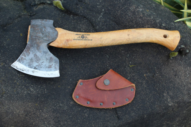 For heavier work, the Gränsfor's Large Carving Axe has a textured handle for a better grip and a larger, heavier head.