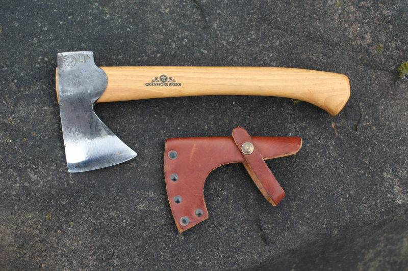The Small Hatchet is small enough to be tucked into a pants pocket.