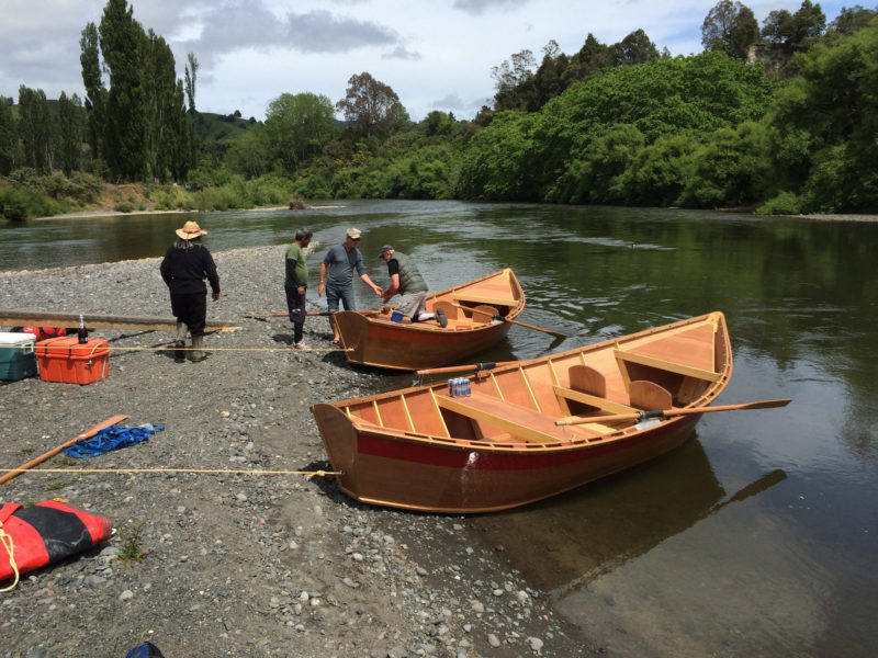 At the confluence of the Whanganui and the Ongarue we loaded the new boats for their first journey. We quickly floated out of civilization and into the Whangaui gorge.