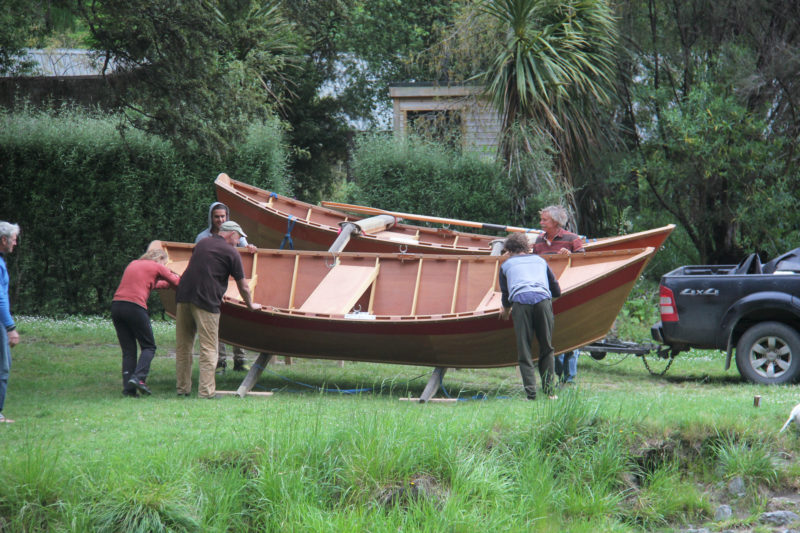 Hours after completing the trailer modifications, we parked by the shore of the Rangitikei to see if the boats would actually float. An open boat like this weighs only around 300 pounds.