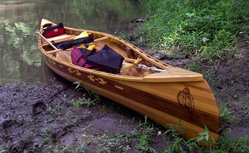 Dave's canoe is as much at home on a muddy creek bank as it is in an art gallery; it was shown at the Galesburg Civic Art Center. Dave, a professional photographer, is no stranger to the art world.