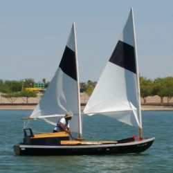 Nate was used to sailing a sloop and found that the trimming of the sails on the schooner had more impact on steering than speed.