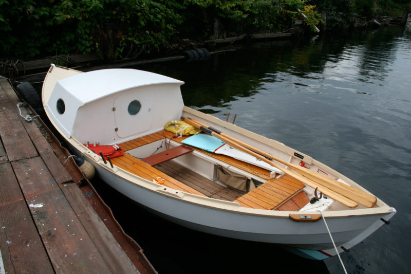 Gimme shelter small boats monthly for Best small cabin boats