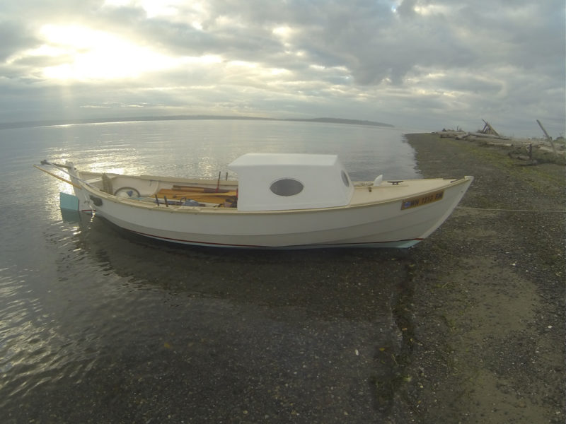With the sun peeking through the morning clouds, the ALISON is ready for motoring east across Puget Sound.