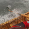 """Lowering the centerboard and """"tacking"""" can make rowing to weather easier than fighting the wind head on."""