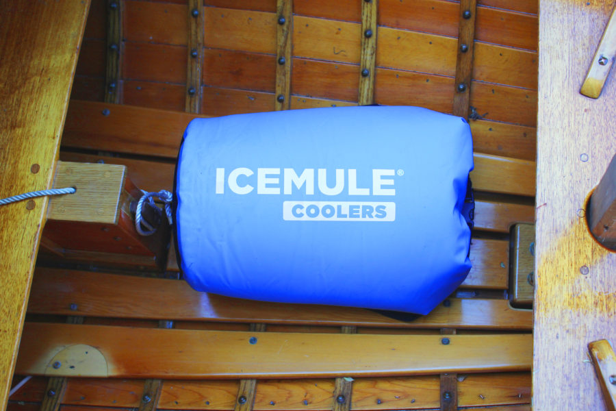 The IceMule cooler is a dry bag within a dry bag with insulation in between the two.