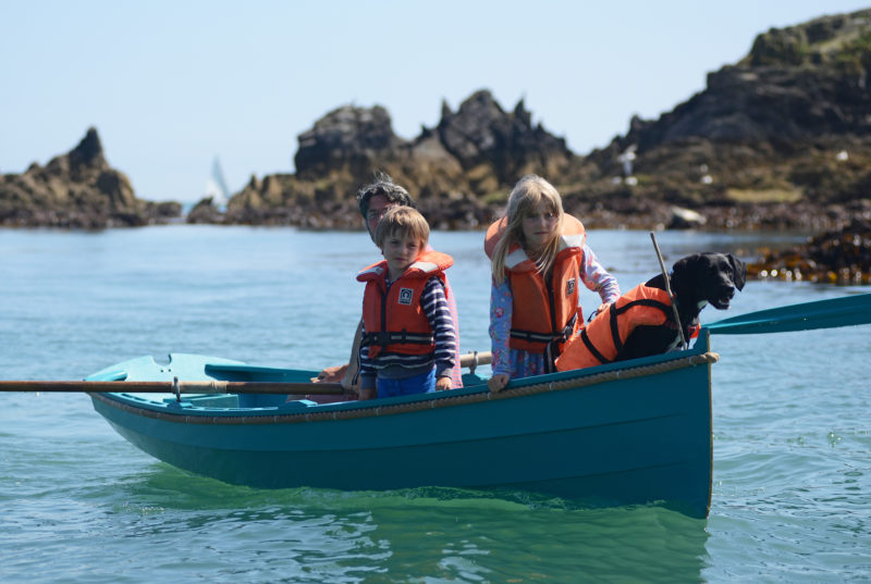 July, 2016. The skiff is ideal for outings with Sol, Betty and our dog, Winnie. Any more than that, the ride gets a bit wet.