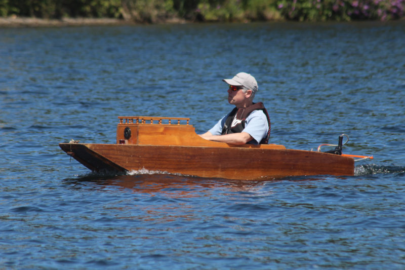 "The hull is made of two sheets of 1/4"" plywood and about 25 board feet of lumber."