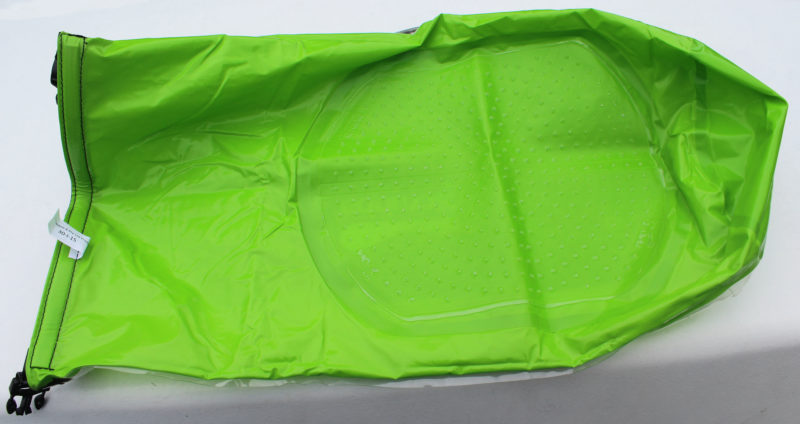 If you turn the Scrubba inside out, as you would to dry it after use, you can see the interior washboard surface.