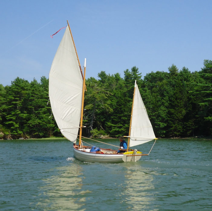 The yawl configuration is one of four options for the Ilur's sailing rig.
