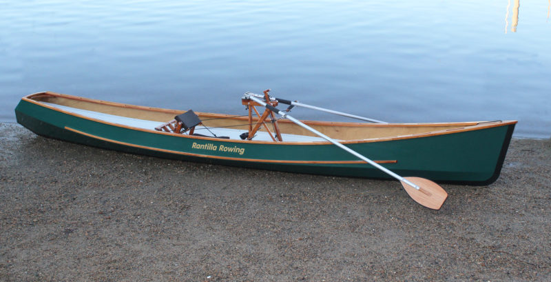 Each oar comes apart at a joint just outboard of the hand grips, and it is easy enough to assemble and disassemble the the oars while afloat.