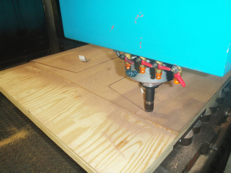 Haynes, a CAD designer, had the plywood panels cut on a CNC machine.