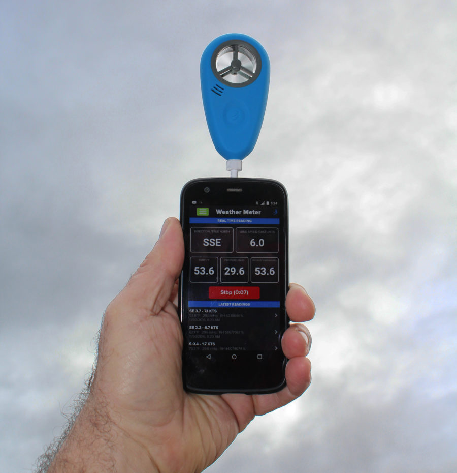 The pin that's included withe the WeatherMeter provide the option of connecting the device to the phone so they can be handled as a single unit.