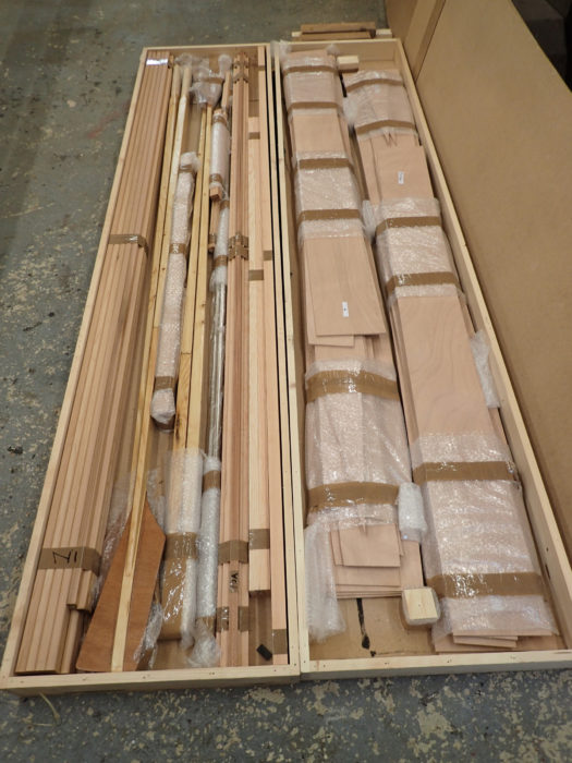 The Savo 650 kit arrives in two boxes and includes parts for the oars.