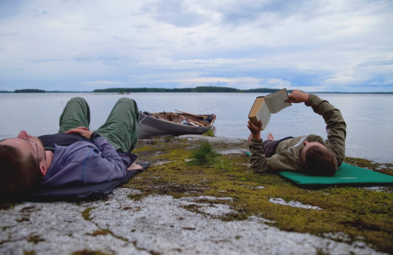 After a 12-mile upwind battle to reach the island of Pikku-Pekka even solid granite offered a welcome measure of comfort.