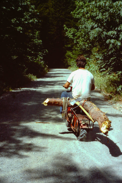 My old tote-goat trail scooter helped transport downed crook stock.