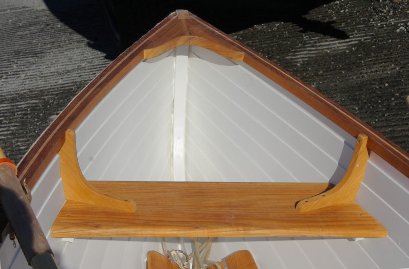 The contemporary glued-lap-plywood construction keeps the boat light and the interior easier to clean and maintain.