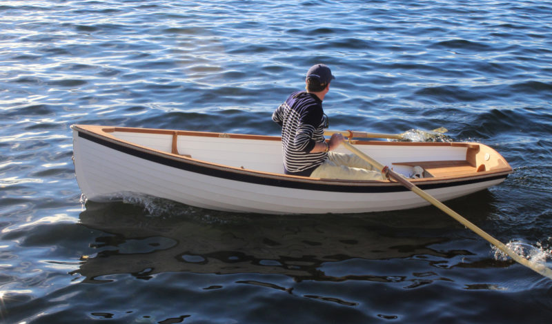 The forward edge of the stern sheets provides a sold foot brace for those with legs long enough to reach it.