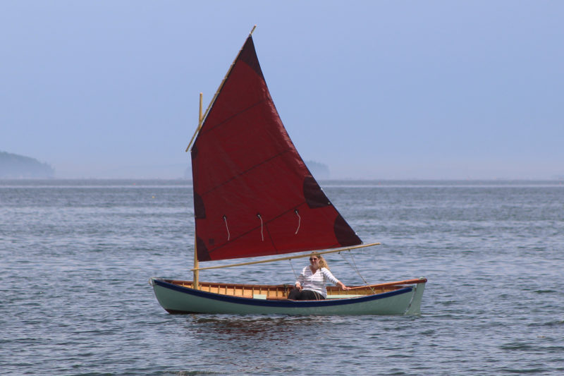 Both the halyard and main sheet lead aft for easy solo sailing.