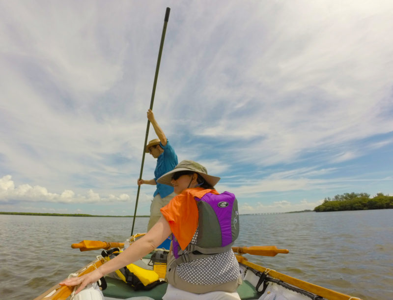 Near the mouth of Florida's Tampa Bay, Roger Siebert and his wife Victoria switched to poling to explore the shallow waters around Shell Key.
