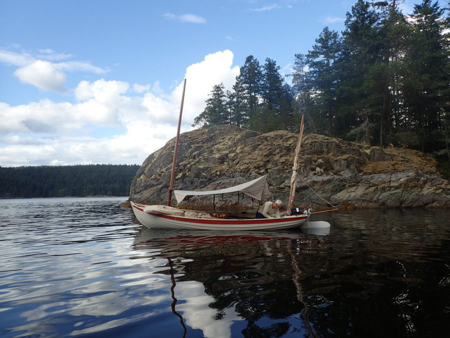 The yawl rig has advantages beyond those for sailing. The two masts support a fly that can be set open for shade and a cooling breeze, or...