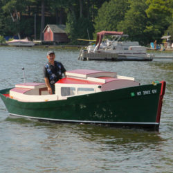 STILL THINKING is a Redwing 18, Barry Dusharm's first power boat.