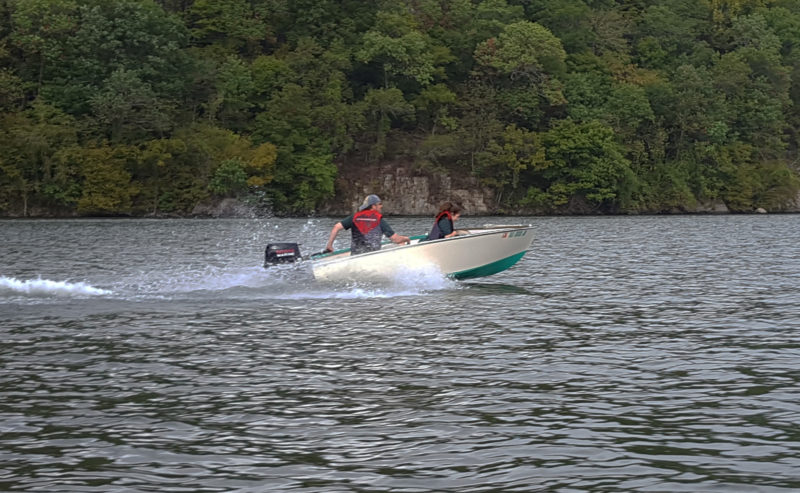 The author's Utility gets up on plane with an 8 hp outboard and two aboard. For heavier loads a 9.9 hp hp motor would be a better fit.