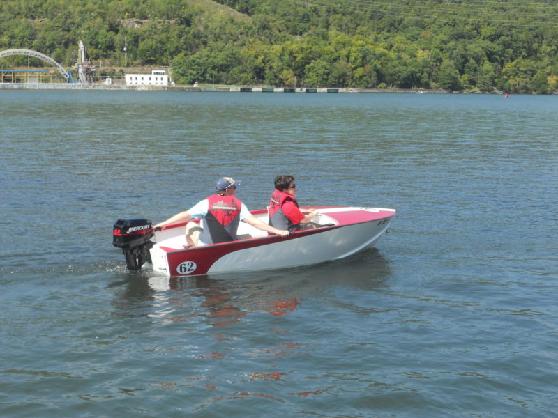 Chris Atwood clocked his 11' Utility at 26.5 miles per hour with two adults aboard and a 8-hp two-stroke outboard running wide open.