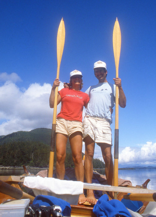 We rowed and sailed ROWENA about 1000 miles during in the eight weeks it took us to get from Anacortes to Juneau.