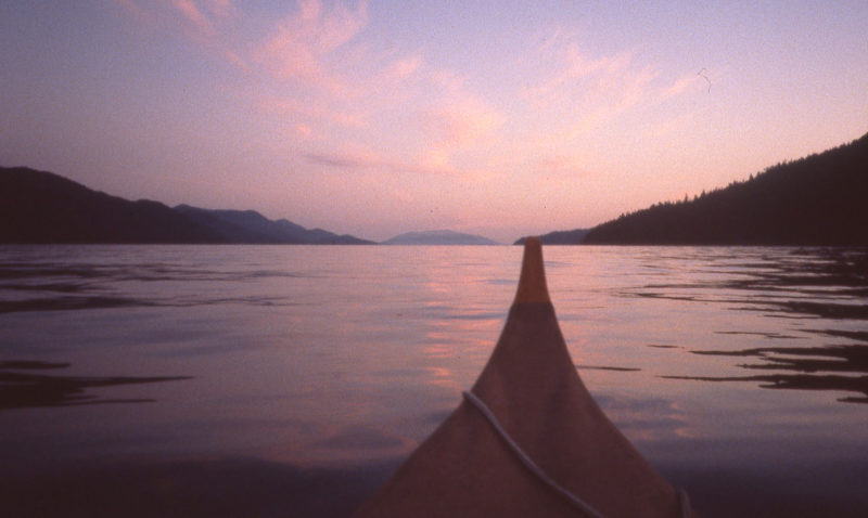 Working with the tides in Grenville channel required getting up at around 2:00 a.m. and rowing into daybreak.