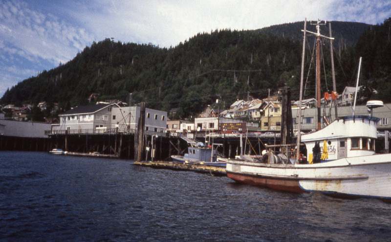 Ketchikan was a nice quite town to visit when we arrived, but...