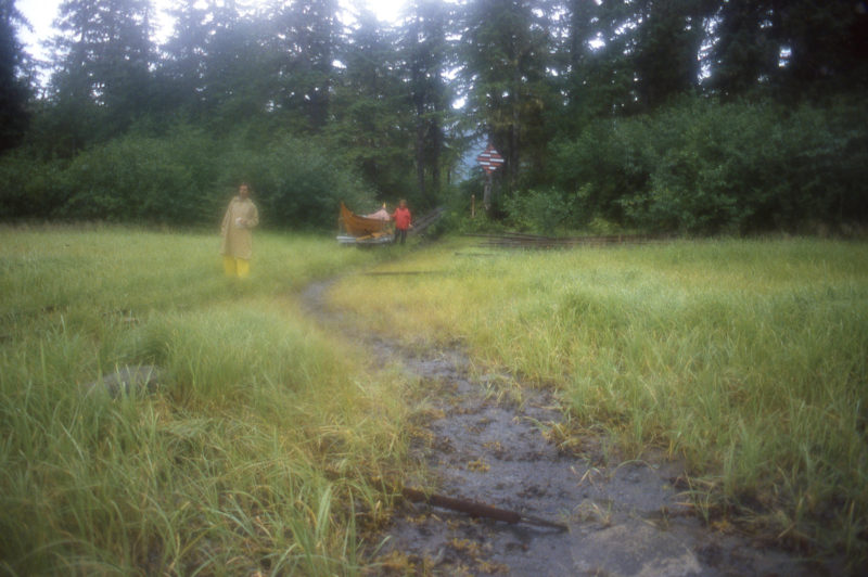 The end of the line brought us down to the tide flats of Oliver Inlet.