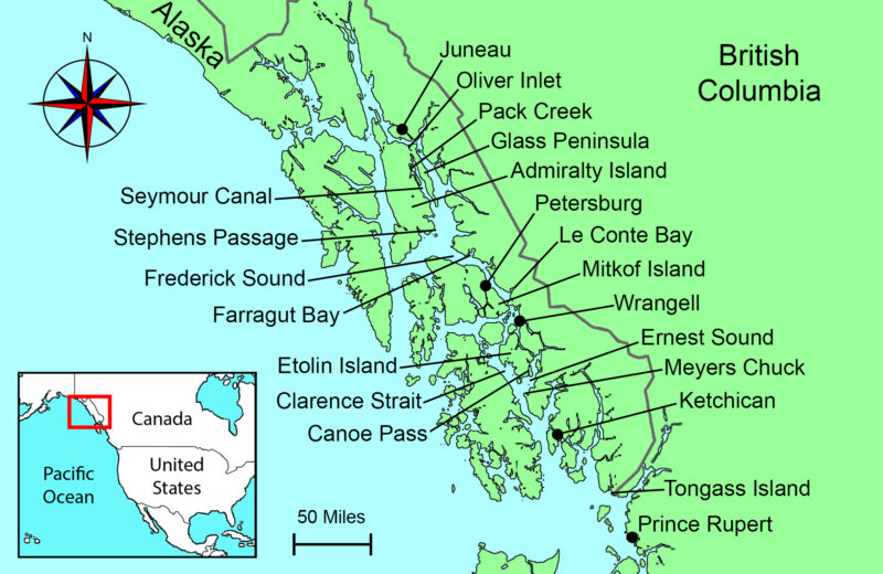 Image result for Dixon Entrance to Tongass Narrows map