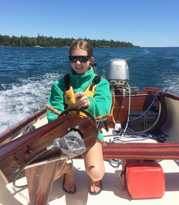 Hannah Dumser, boatbuilder.