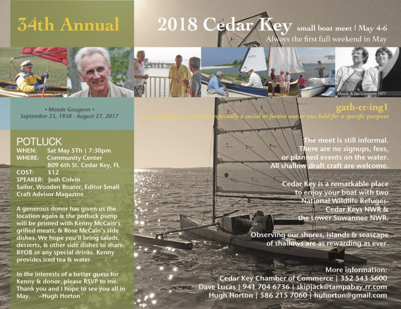 Invitation to the Cedar Key Small Boat Meet with details