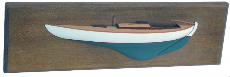 Dad owned a Knud Reimers-designed Tumlaren for many years. He sold the boat when I built a gunning dory for him. We have his half model to remember the sloop by.