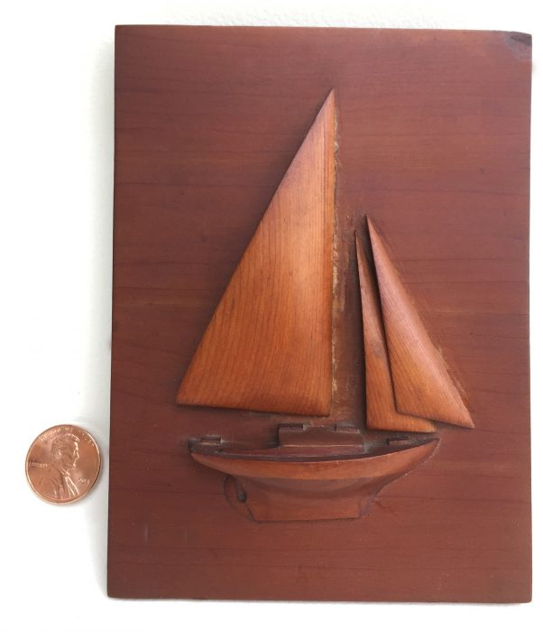 My grandfather kept MOLLY MAY at Marblehead Harbor. Dad grew up sailing her and made this half model.