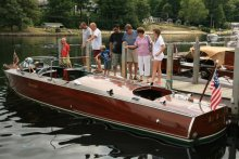 Visitors at the Alton Bay Boat Show