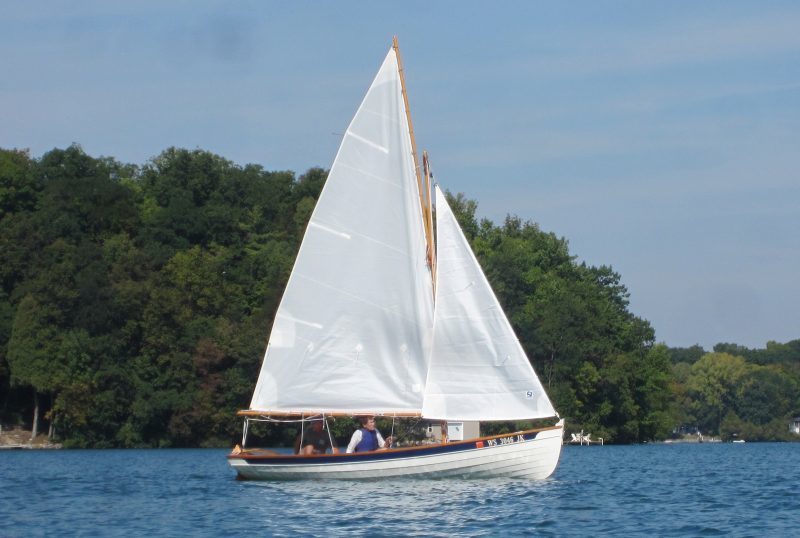 In light air, the Penobscot 17 can still make satisfactory headway.