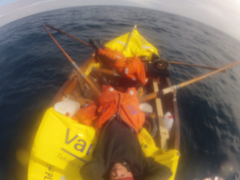 During the final stage to reach the coast of Shetland, we rowed together for 20 hours to avoid missing landfall. We had spent almost a week within the confines of the faering.