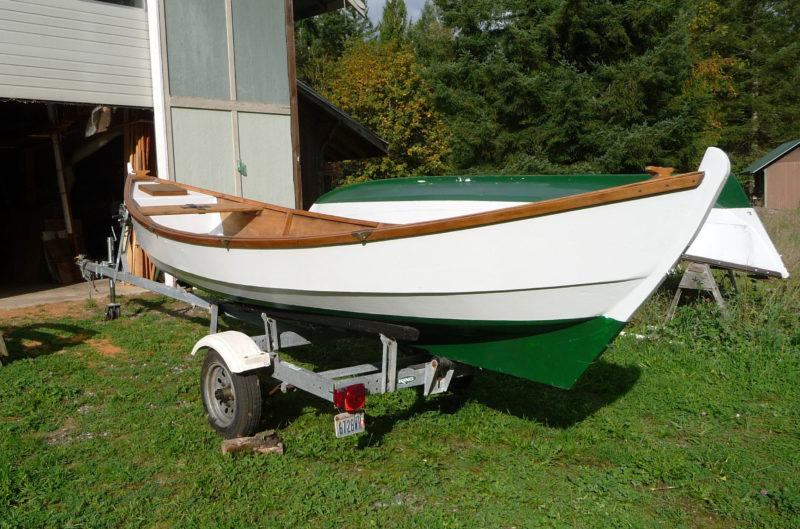 The augmented keel and skeg improve upon the faering's sailing abilities without obstructing the boat's interior with a centerboard trunk.