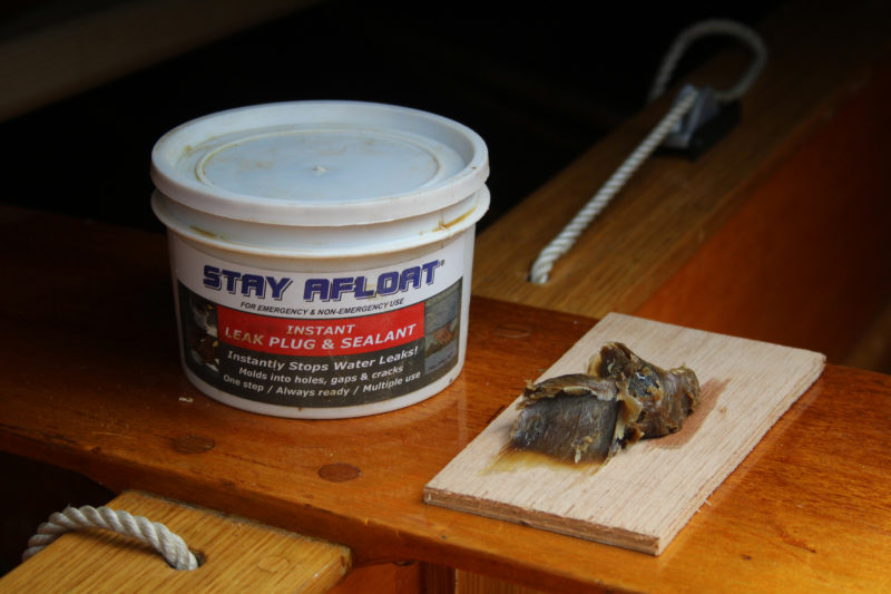 Stay-Afloat is a soft, sticky, wax-like material made of treated petroleum byproducts.