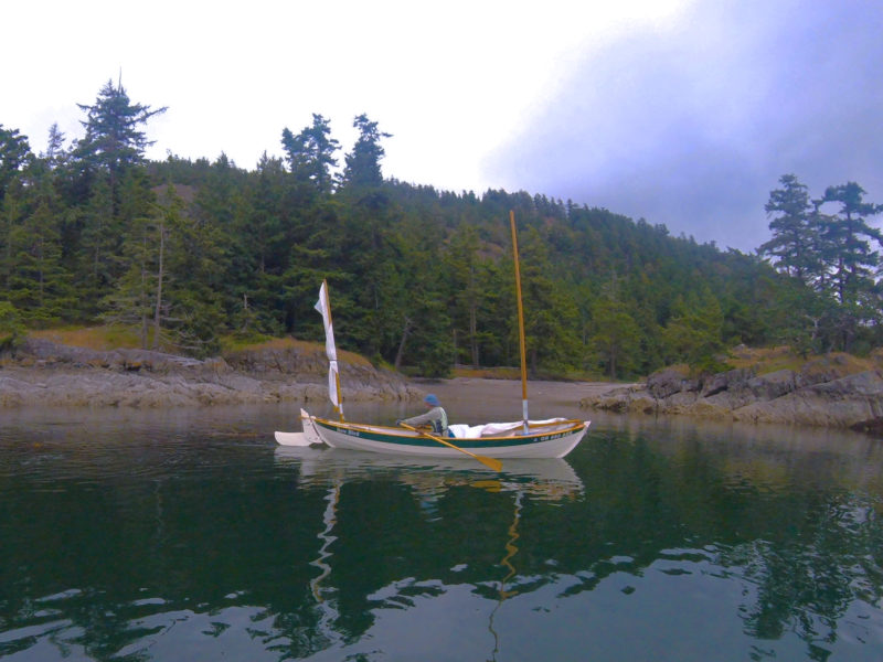 First Nations people in British Columbia still use parts of the National Park Reserve for traditional hunting and gathering and some areas, such as the burial ground on Skull Island (seen off the bow) are closed to the public as a sign of respect to the local tribes.
