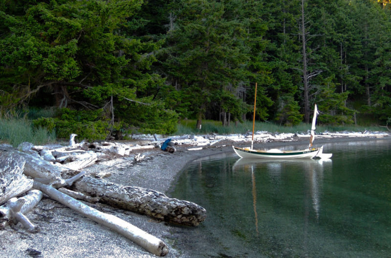 The Beaumont campground by Skull Islet , like others in the Gulf Islands National Park Reserve are geared toward small boats, with protected beaches and easy access to well-maintained tent sites and trails.