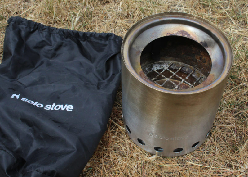 Soot accumulates only on the inside of he stove, so handling it after it has cooled down won't blacken your hands. The included stuff sack keeps the two pieces together.