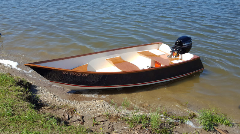 With a hull weight of about 130 lbs and an engine weight of 84 lbs, the Tang 13 draws only a few inches .